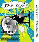 grunge kite zone. vector... | Shutterstock .eps vector #61657849