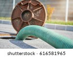 emptying septic tank  cleaning... | Shutterstock . vector #616581965