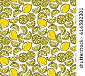 lemon pattern  background . | Shutterstock .eps vector #616582301
