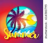 summer. background. summer... | Shutterstock .eps vector #616583795