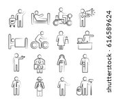 hand drawn people icons | Shutterstock .eps vector #616589624