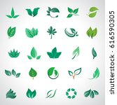 leaf icons set  vector... | Shutterstock .eps vector #616590305