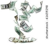 Dollar Banknotes Falling To Th...