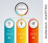 infographic template with 3... | Shutterstock .eps vector #616597301