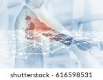 business network concept.... | Shutterstock . vector #616598531
