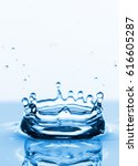 photo of water splashes and... | Shutterstock . vector #616605287