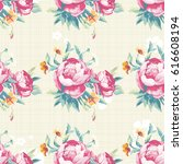seamless floral pattern with... | Shutterstock .eps vector #616608194