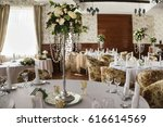 decorated wedding banquet hall... | Shutterstock . vector #616614569