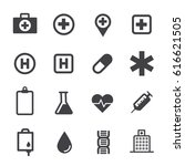 medical icons with white... | Shutterstock .eps vector #616621505