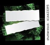 brushstroke and paper on a... | Shutterstock .eps vector #616623395