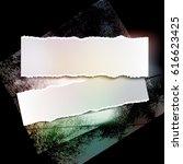 brushstroke and paper on a... | Shutterstock .eps vector #616623425