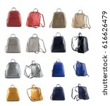 group of women leather backpack ... | Shutterstock . vector #616626479