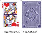 Playing Card  Queen Of Heart