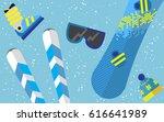 flat design winter sport... | Shutterstock . vector #616641989