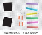 set of different size sticky ... | Shutterstock . vector #616642109