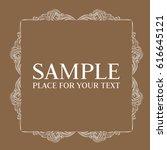 frame. decorative element.... | Shutterstock .eps vector #616645121