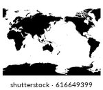 australia and pacific ocean... | Shutterstock .eps vector #616649399