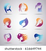 silhouettes of a girl in... | Shutterstock .eps vector #616649744