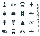 shipment icons set. collection... | Shutterstock .eps vector #616653029