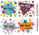 set of big sale special offer... | Shutterstock . vector #616655561