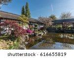 japanese garden on versailles... | Shutterstock . vector #616655819