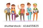 vector illustration icon group... | Shutterstock .eps vector #616655825