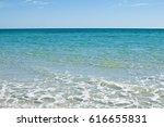 beautiful white beach. soft...   Shutterstock . vector #616655831