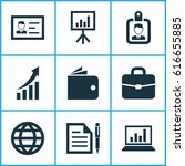 business icons set. collection... | Shutterstock .eps vector #616655885
