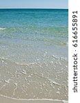 beautiful white beach. soft...   Shutterstock . vector #616655891