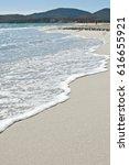 white sand beach against the...   Shutterstock . vector #616655921
