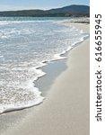 white sand beach against the...   Shutterstock . vector #616655945