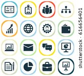 job icons set. collection of... | Shutterstock .eps vector #616656401