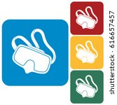 diving mask icon isolated.... | Shutterstock .eps vector #616657457