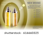 advertising a cosmetic product... | Shutterstock .eps vector #616660325