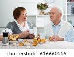 smiling elderly husband and