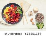 healthy vegetarian diet concept....   Shutterstock . vector #616661159