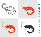 set of shrimp vector icons   Shutterstock .eps vector #616664417