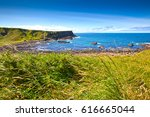 footpath on the seaside of the... | Shutterstock . vector #616665044