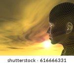 concept or conceptual 3d... | Shutterstock . vector #616666331