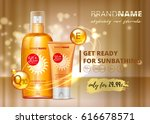 sunblock ads template  sun... | Shutterstock .eps vector #616678571