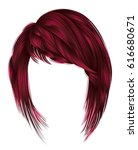 trendy  woman  hairs kare with... | Shutterstock .eps vector #616680671