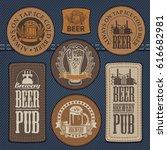 vector set of labels for jeans... | Shutterstock .eps vector #616682981