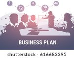 silhouette business people team ... | Shutterstock .eps vector #616683395