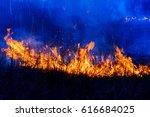 night forest fire | Shutterstock . vector #616684025