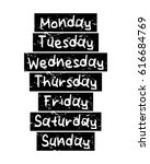 days of the week   monday... | Shutterstock .eps vector #616684769