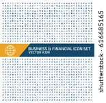 business and finance icon set... | Shutterstock .eps vector #616685165