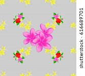seamless floral pattern with... | Shutterstock .eps vector #616689701