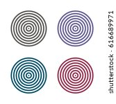 concentric circles  rings... | Shutterstock .eps vector #616689971