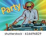 dj boy party mix music. pop art ...   Shutterstock .eps vector #616696829