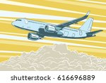 air transport  passenger... | Shutterstock .eps vector #616696889